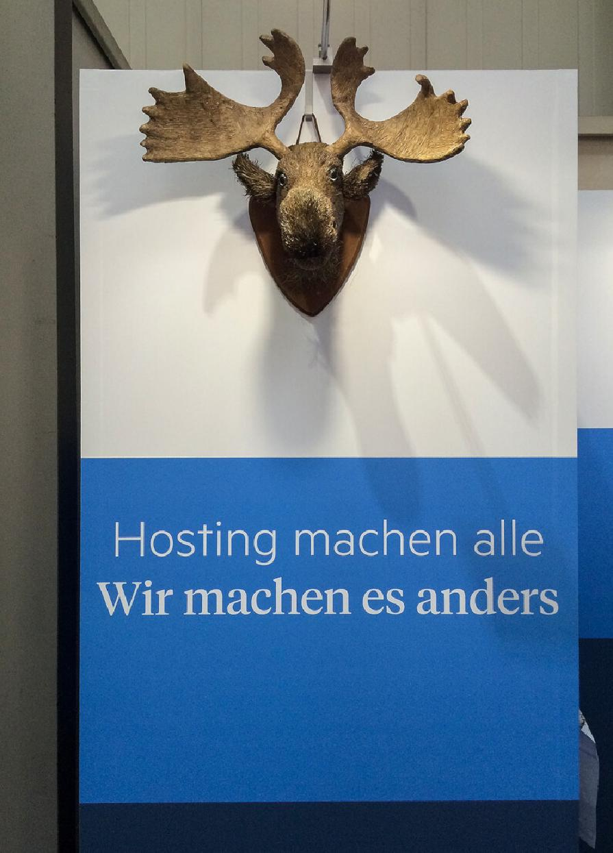 Der hosting.de Messe-Elch