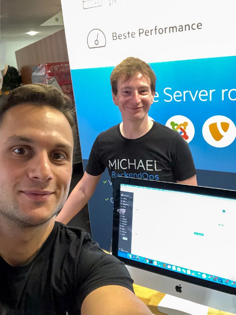 Oguzhan Gökal und Michael Ernst von hosting.de